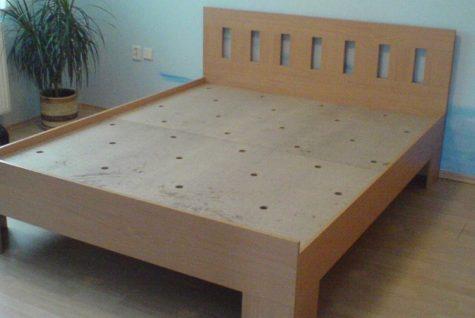 Výroba dřevěné postele